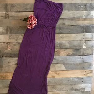 Old Navy Purple Strapless Maxi Dress